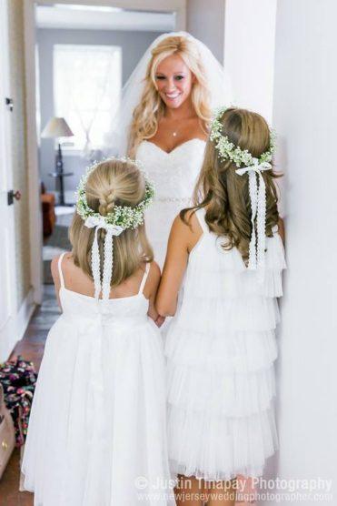 Flower girl floral crowns