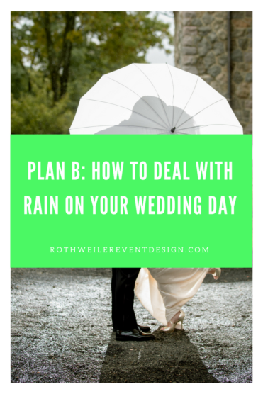 A blog about handling bad weather on your wedding day