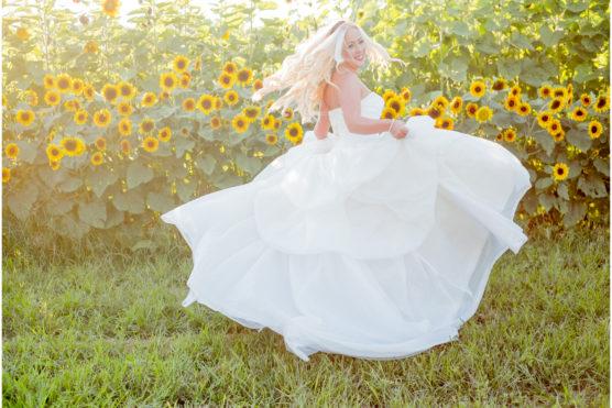 Bride outside