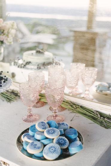 Vintage wedding set up for a dessert table