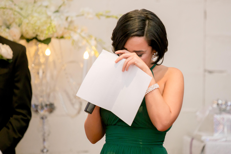 maid of honor wedding toast crying