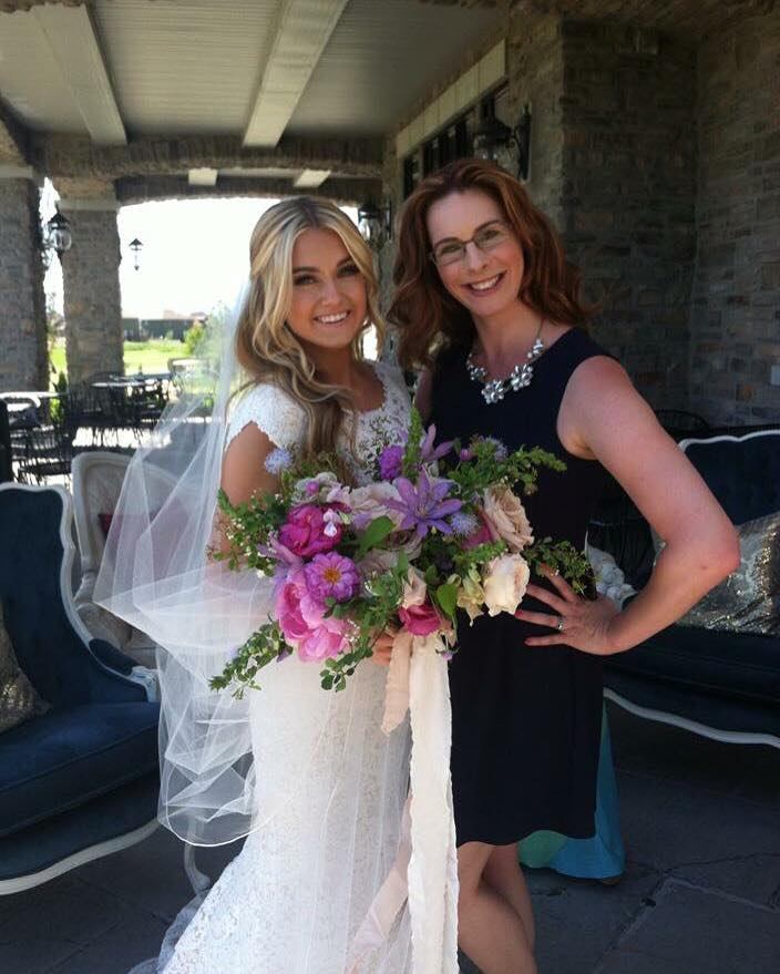 Wedding planner with bride Lindsay Arnold