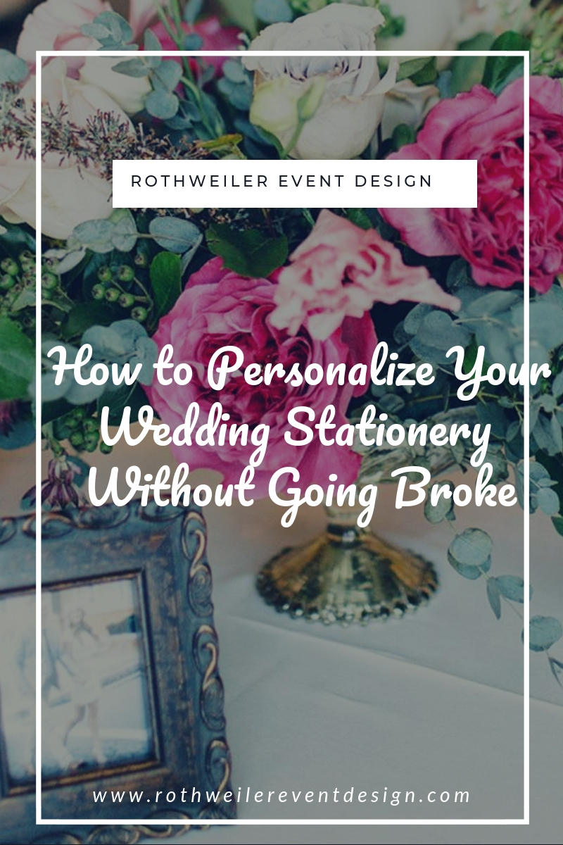 blog cover for blog about getting wedding stationery without going broke