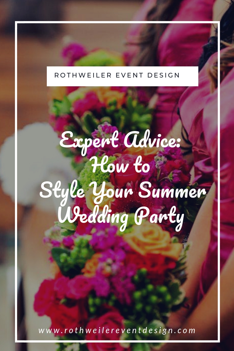 blog cover for blog about summer wedding party wardrobe