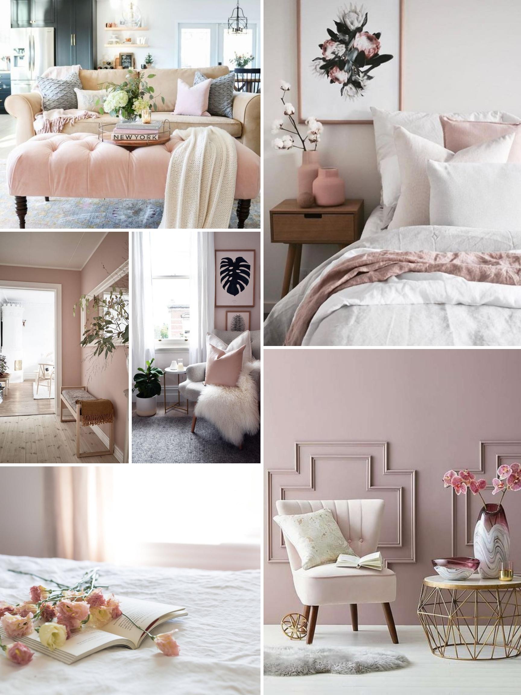 inspo board for blush home design