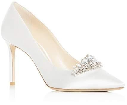white satin wedding heels