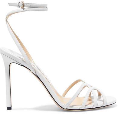 white bridal shoe