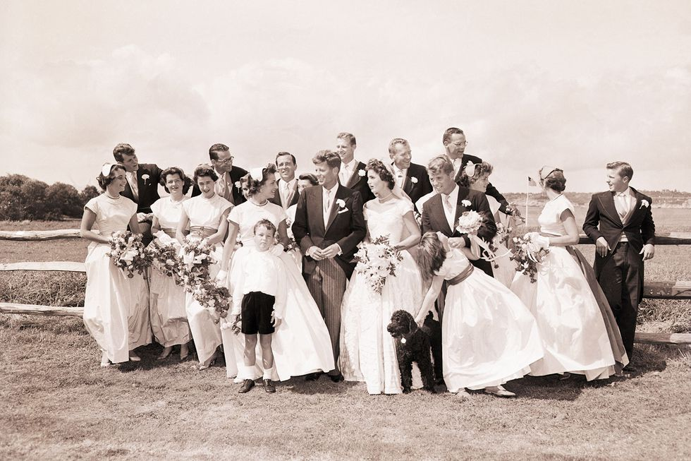 jfk and jackie wedding day photo
