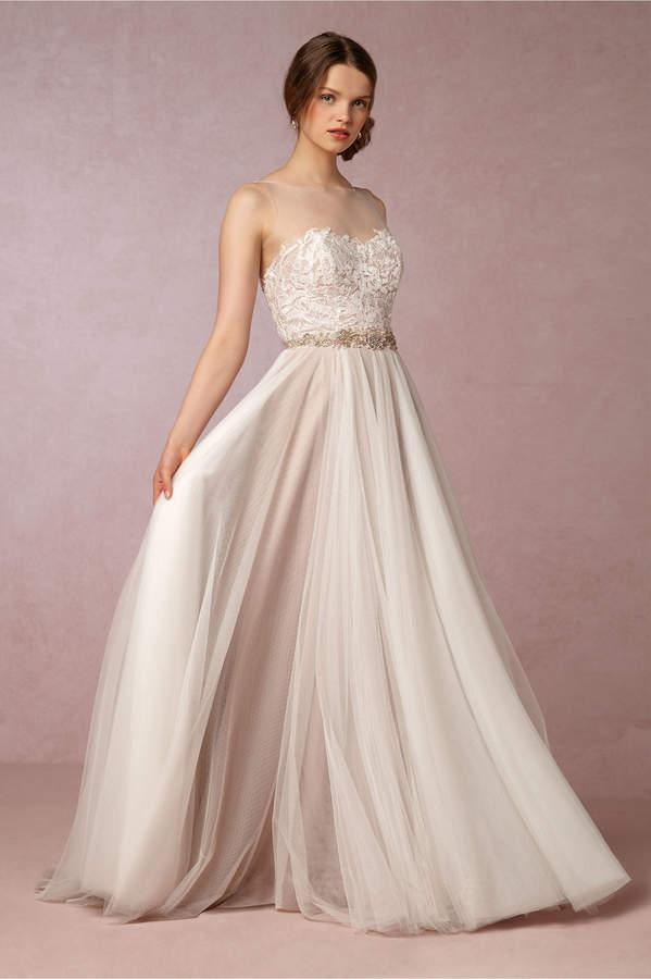 strapless wedding gown