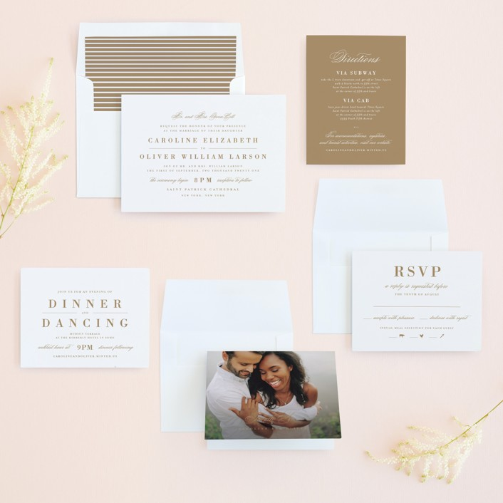 wedding invitation suite with rsvp card