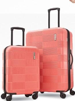 coral suitcase set