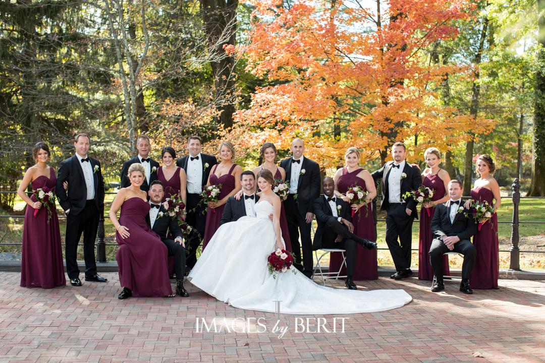 fall wedding bridesmaid dresses burgundy
