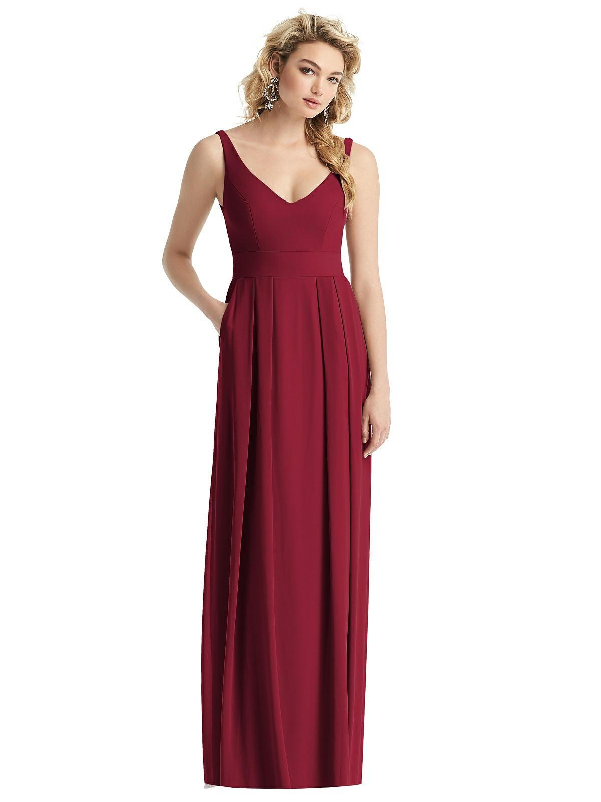fall wedding bridesmaid dress burgundy