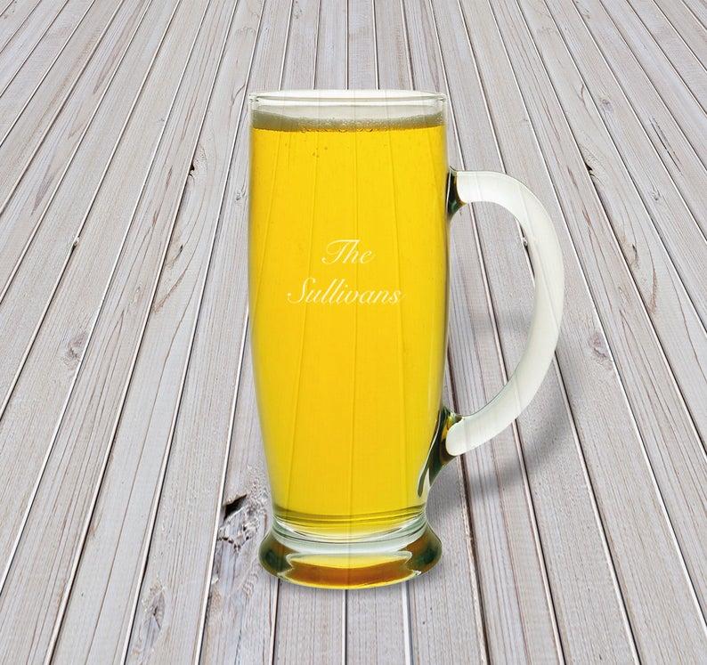 engraved beer mugs
