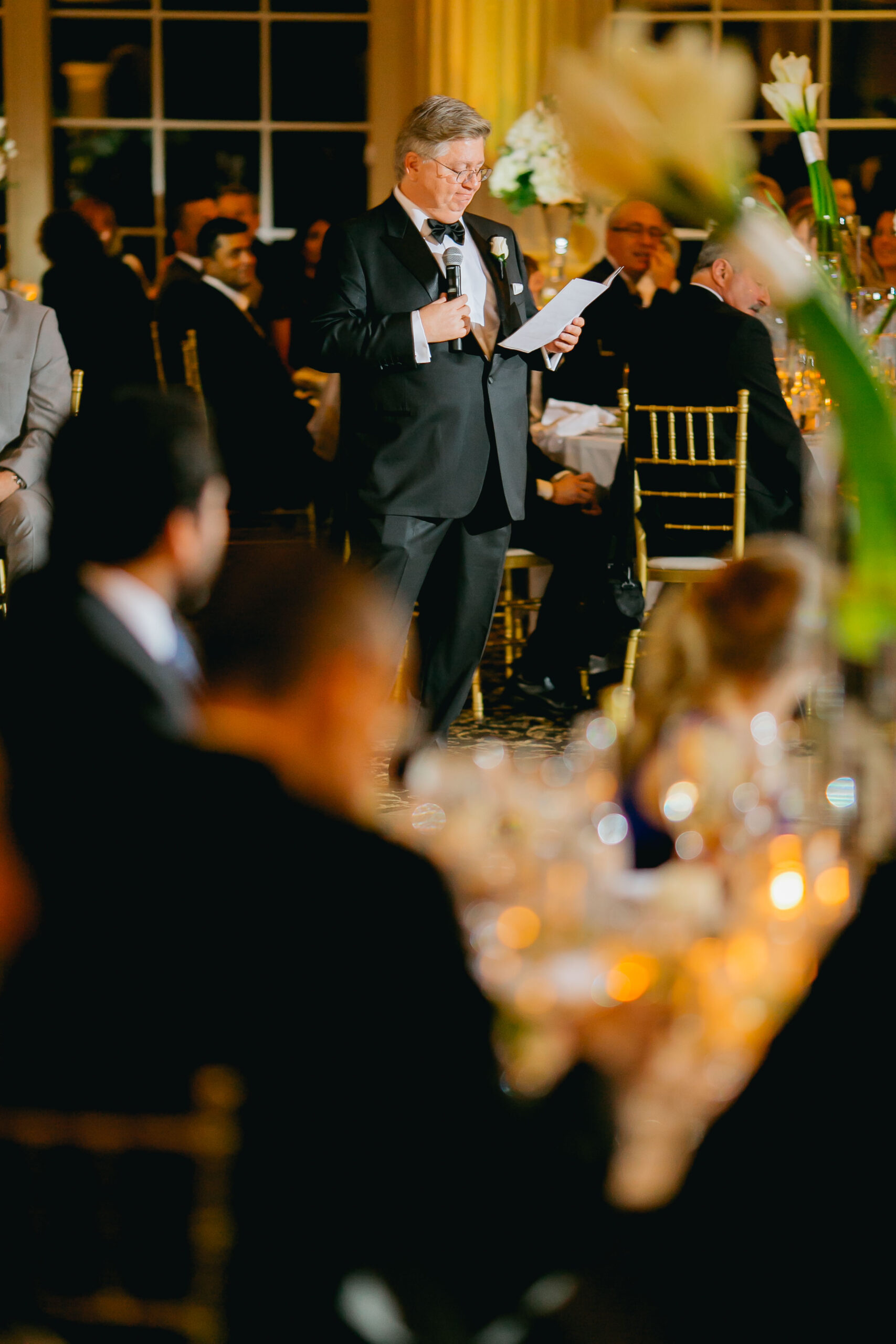 father of the bride giving wedding toast