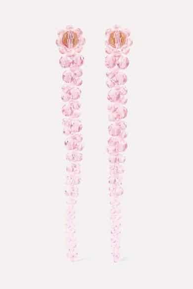 drop pink earrings