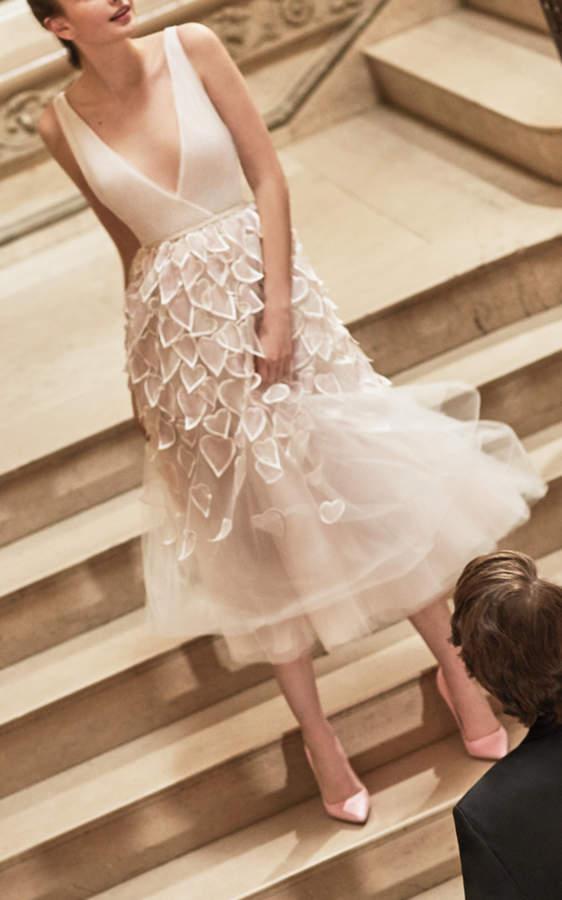 short wedding gown