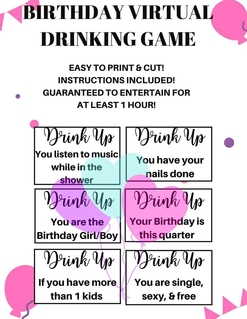 birthday drinking game