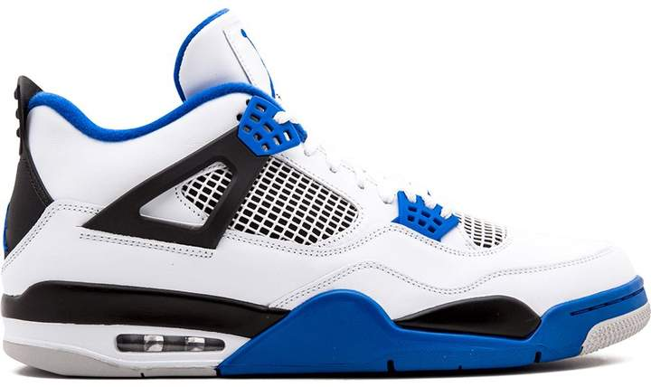 blue white and black sneakers