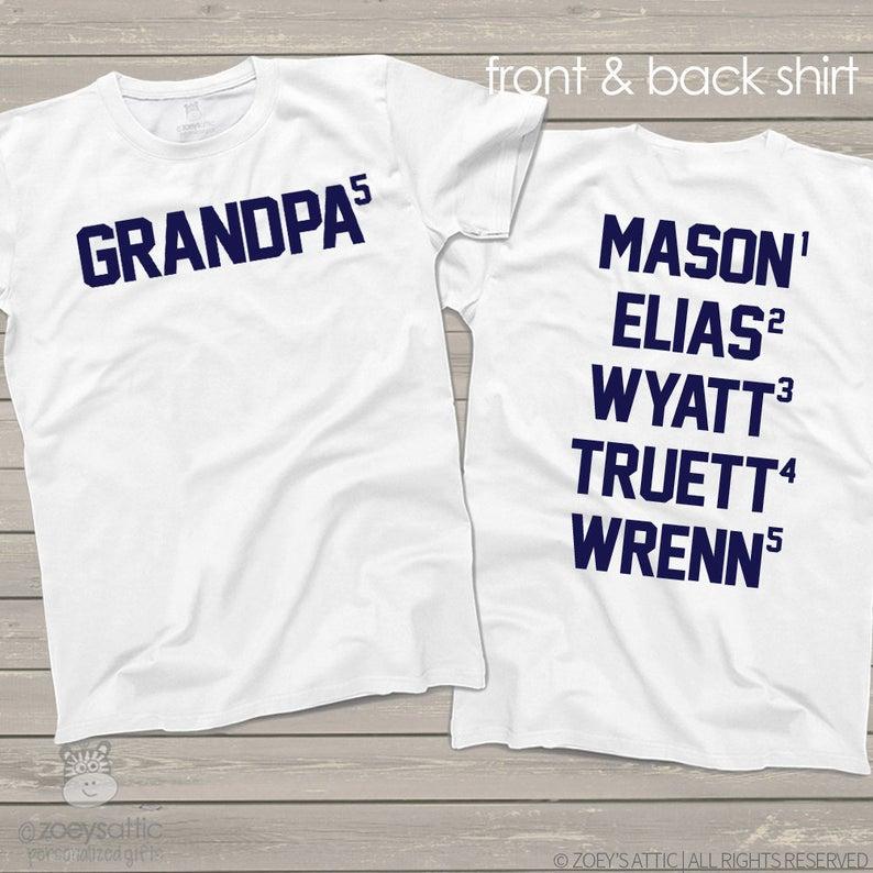 grandpa fathers day t-shirt