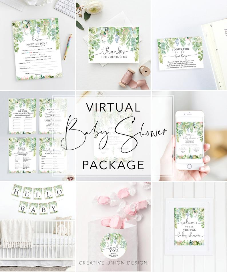 virtual baby shower pack