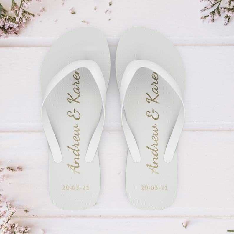 wedding day flip flops