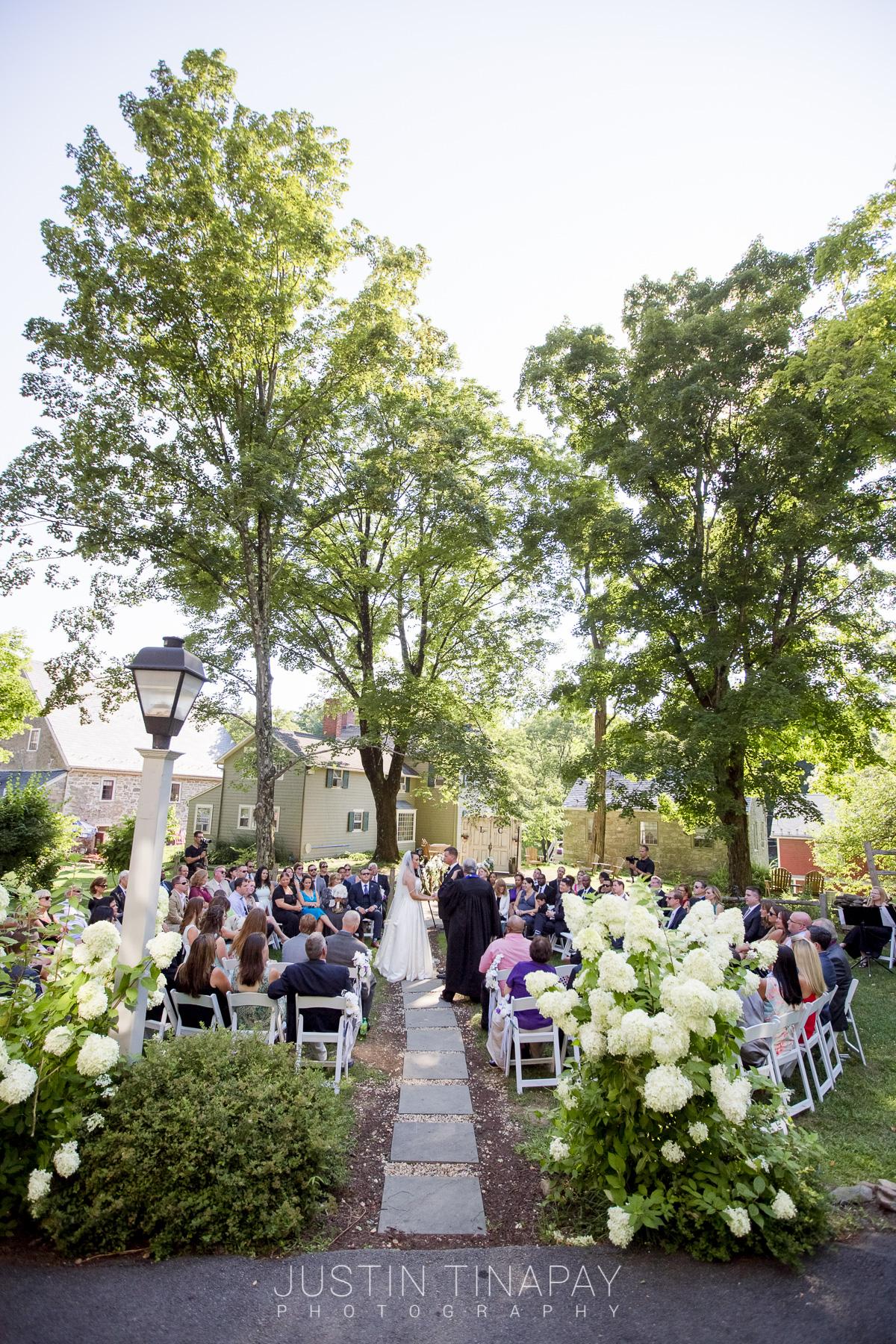 backyard ceremony in the round