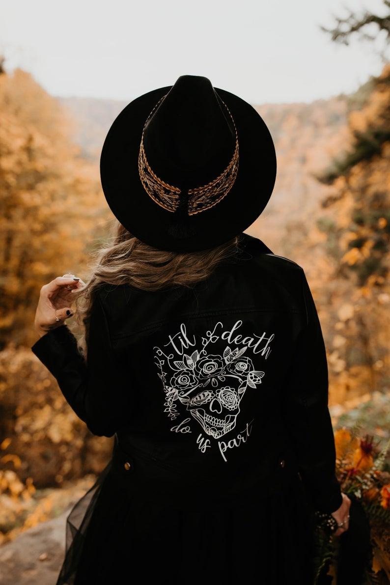 custom black leather jacket