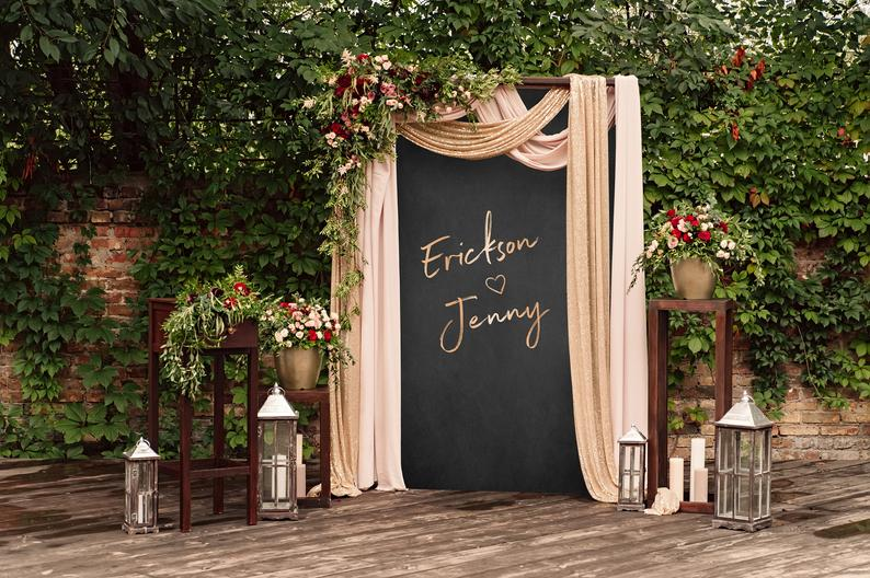 ceremony backdrop with draping