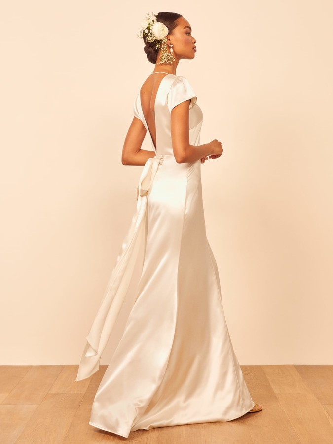 long off the rack bridal gown