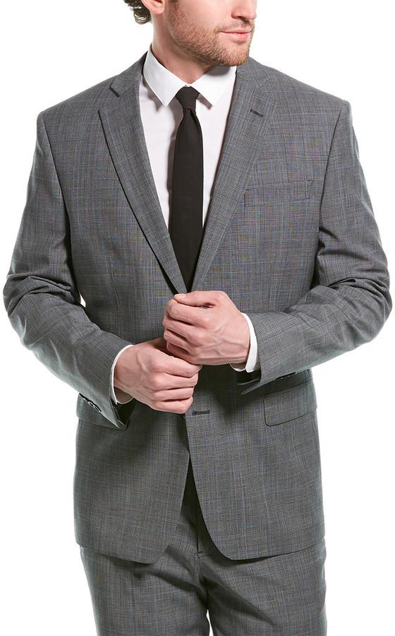 gray groom wedding suit