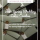 spring wedding colors blog