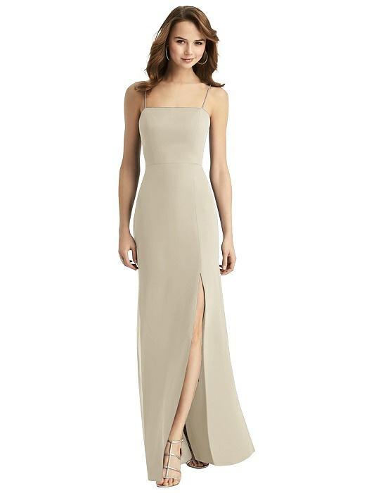 gold long bridesmaid dress