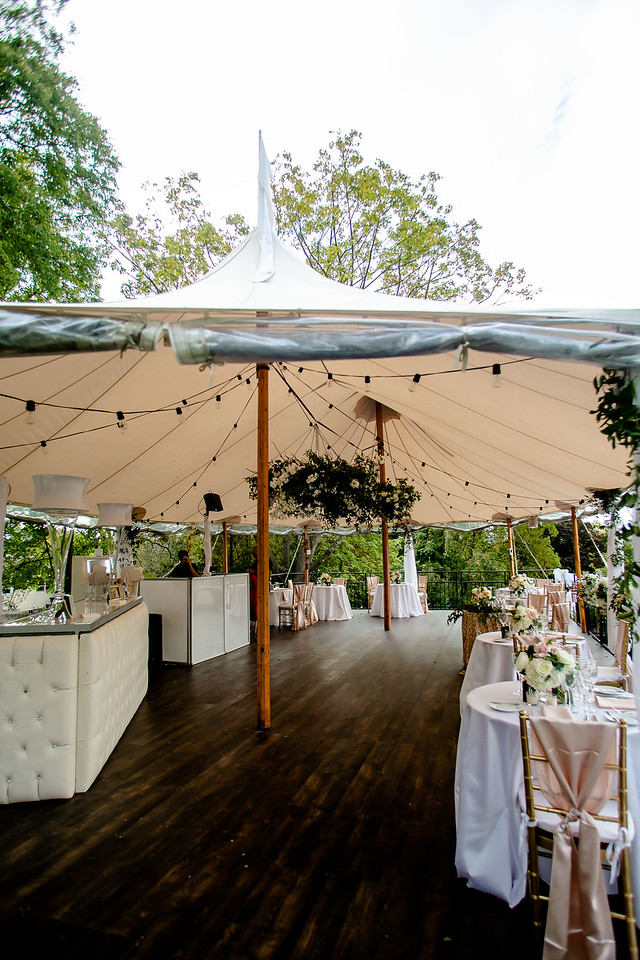 outdoor tented wedding