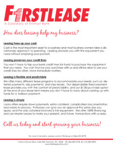 How does leasing help my business?