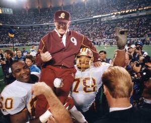 Gibbs venceu três Super Bowls com os Redskins