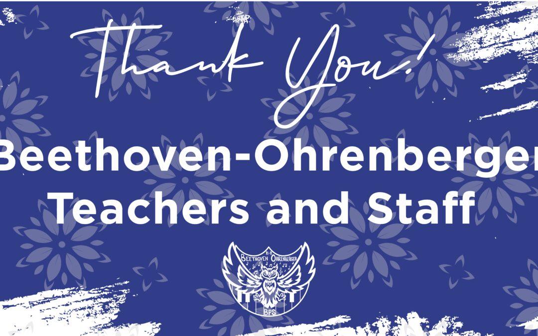 Teacher Appreciation Week:  May 3 – May 7