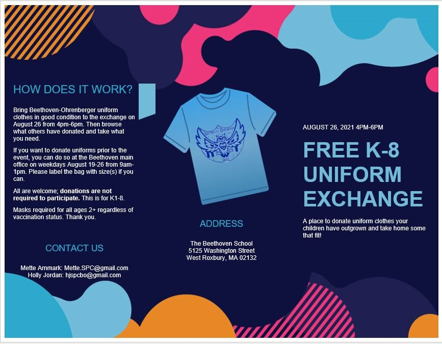 Uniform Exchange at the Beethoven – August 26 – 4-6pm