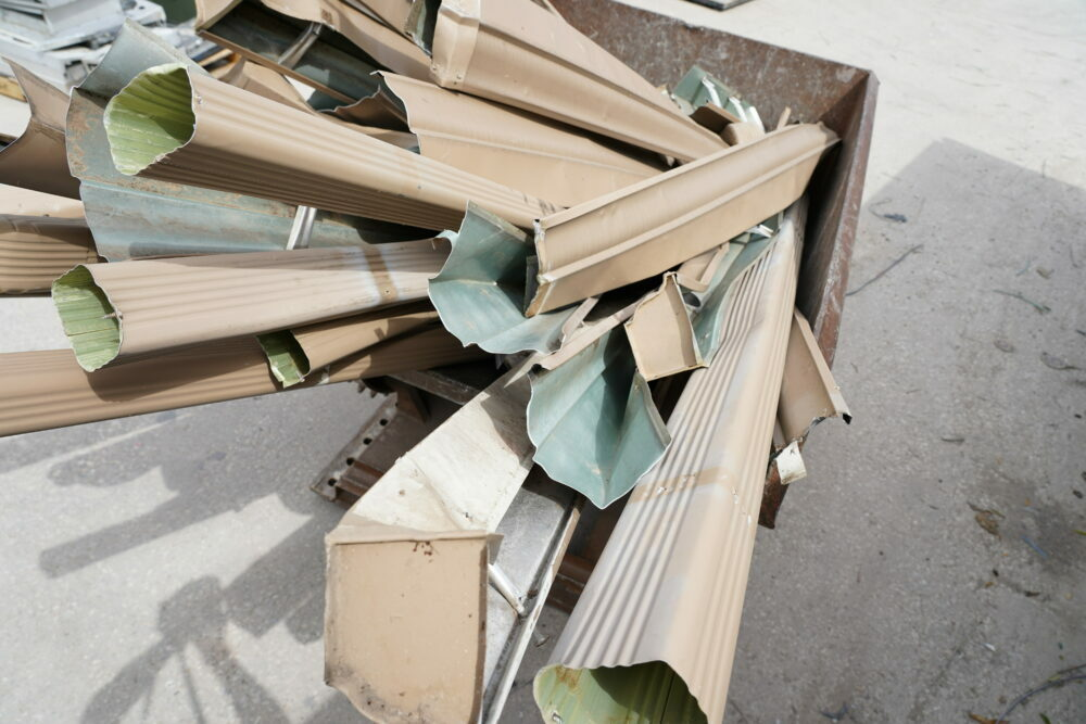 Aluminum Gutter Recycling After North Texas Hail Storms