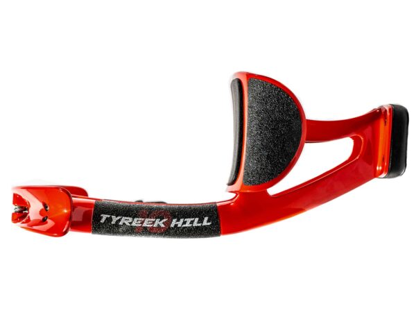 Side view of Tykeek Hill edition of PureTorque device. It's red and black.