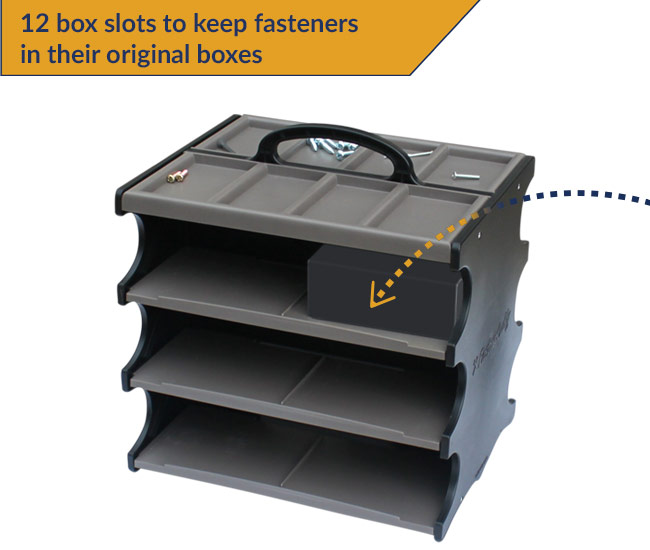 fastner-caddy-organize-store-transport-fasters-in-their-original-boxes-12-slots