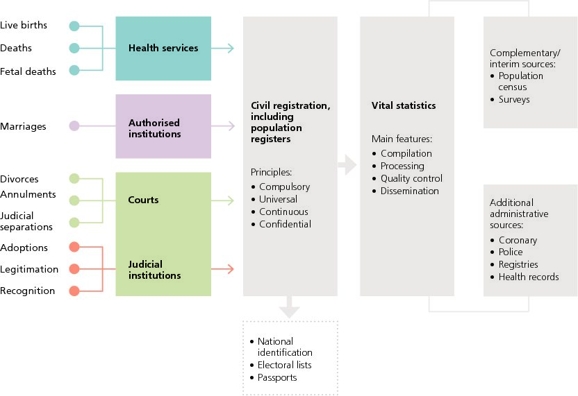 How a civil registration and vital statistics system works