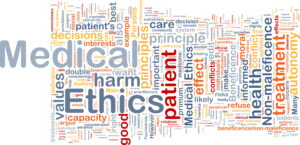 Word cloud for ethics