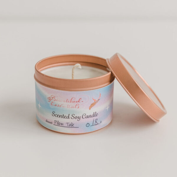 Open front view of Bewitched Essentials Candle