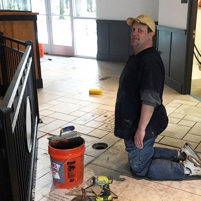 Tile install