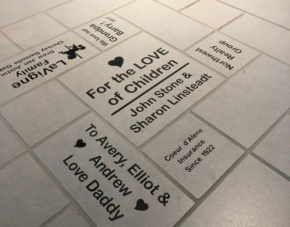 Tile floor - many special messages