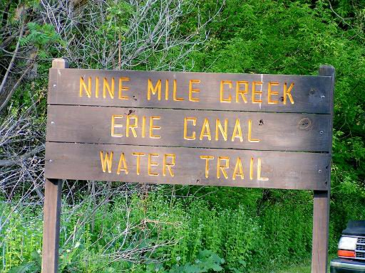 Nine Mile Creek Sign