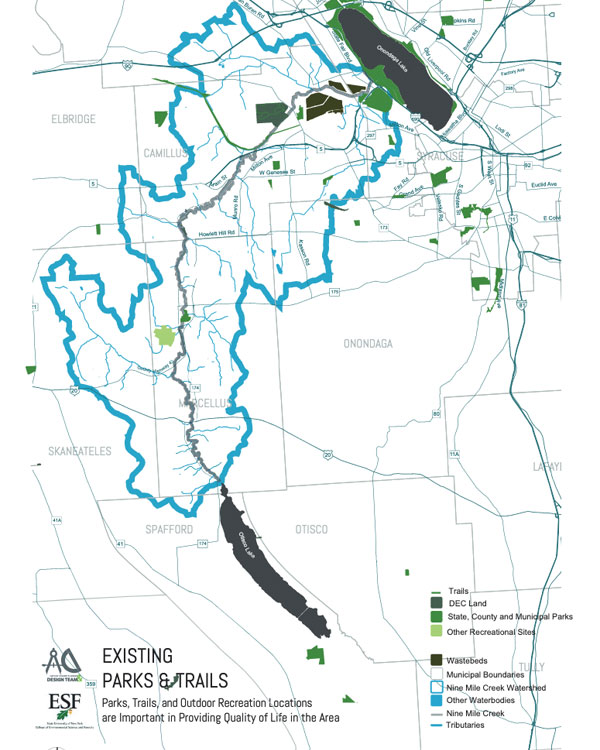 Existing Parks and Trails Map