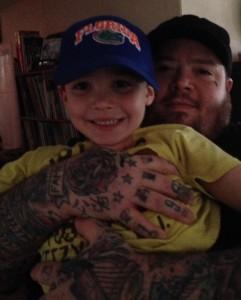 Little Mike Mehaffey and son Leathem