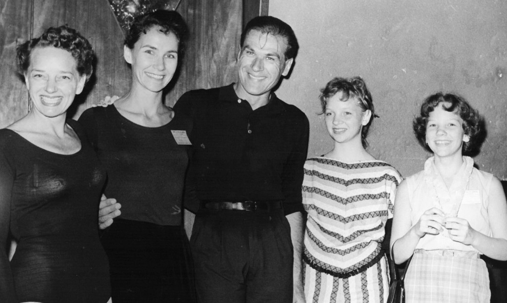 This family photo from the early 1960s includes, from left, Mary Ellen Pofahl, left, longtime friend and instructor Jeanne Bochette, Andre Eglevsky from the American Ballet Theatre and New York City Ballet, Judy Pofahl Skinner and Kim Pofahl Tuttle.